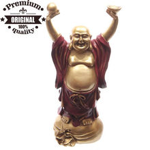 polyresin rote glod stehen und chinesische <span class=keywords><strong>buddha</strong></span> 30cm