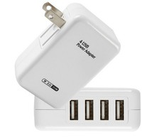 New Travel AC Home Wall Power Charger Adapter Plug 4 USB for iPhone for Samsung