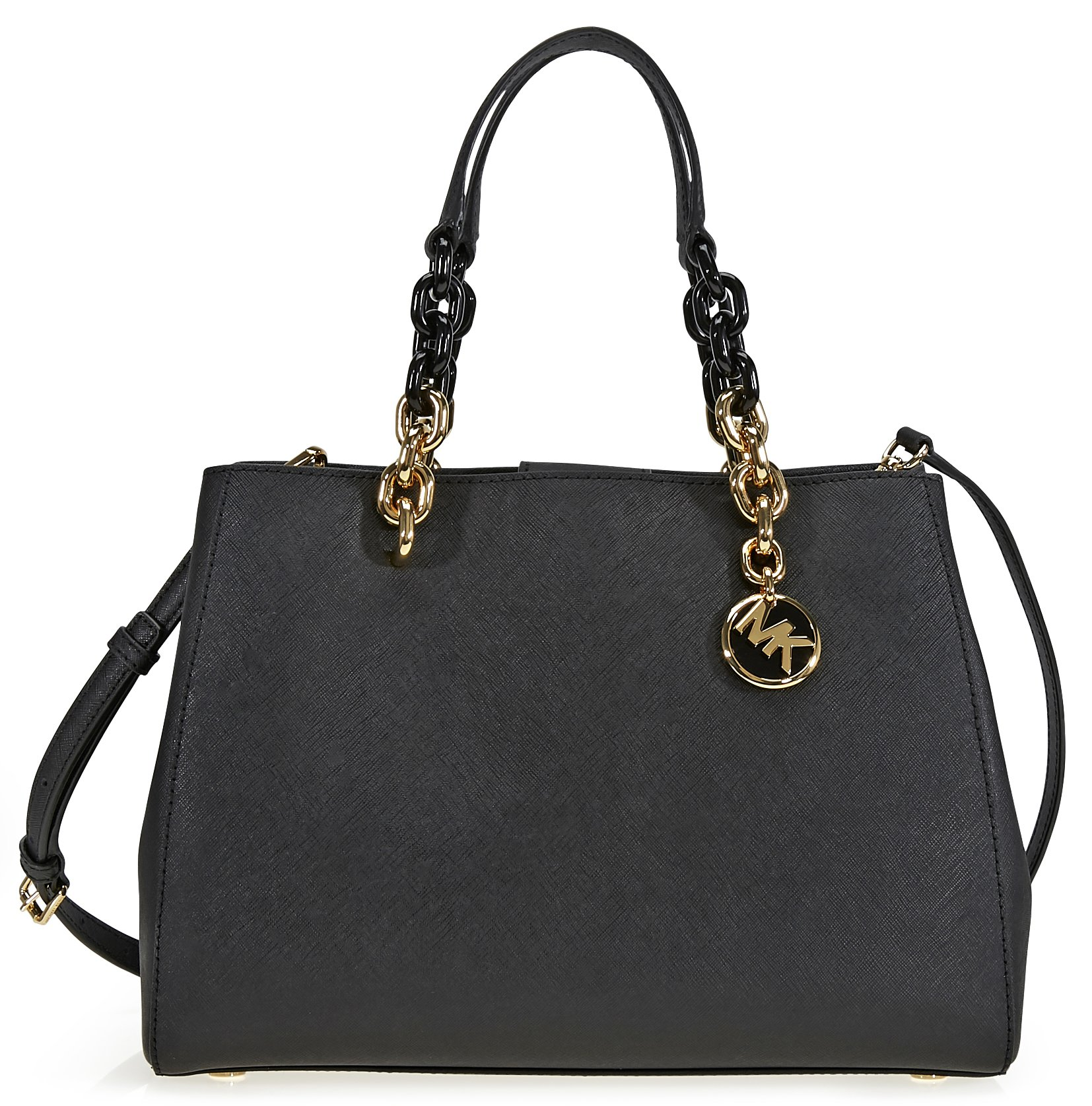b1af9dc46ee0 Get Quotations · MICHAEL Michael Kors Cynthia Saffiano Leather Satchel