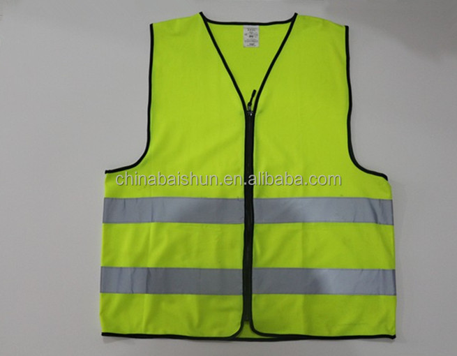 night <strong>safety</strong> flashing reflective motorcycle vest with zip