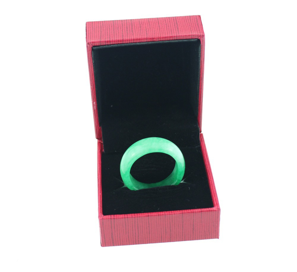 Fine Jewelry Wedding Rings,Genuine Green Jade Vintage Unisex Ring for Women and Men Jewelry with Certificate,11mm,Free Shipping