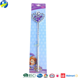 FJ brand lovely girl crown shape fairy baby wands for children party decoration