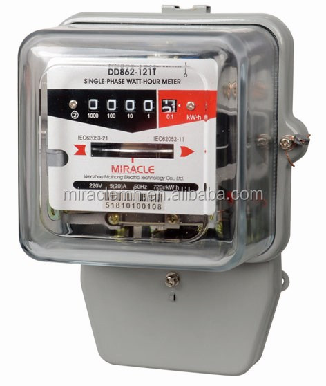 Single Phase Meter Mechanical : Single phase electric mechanical kwh meter induction