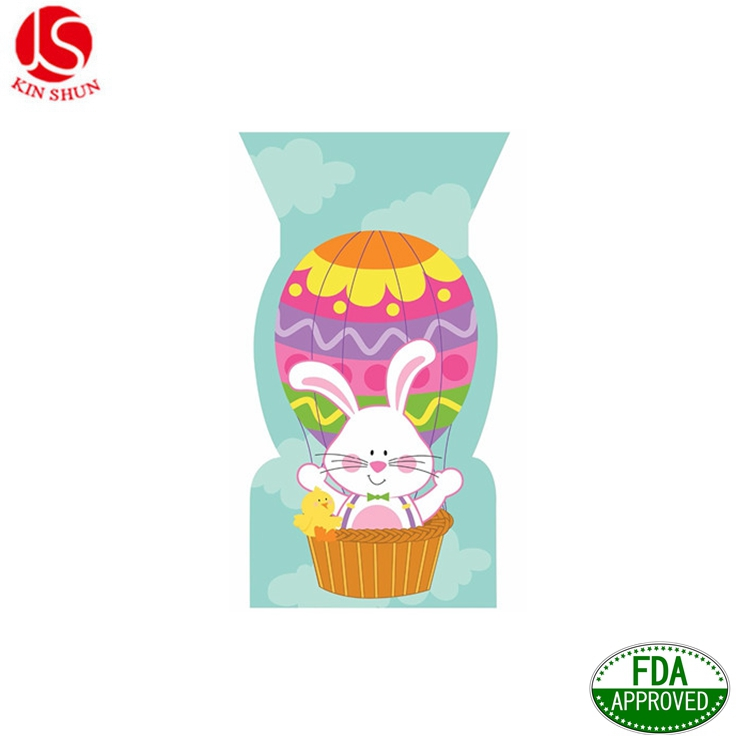 Easter Rabbit Shaped Cello Food Safe Favor Sweet Treats Bag, Party Favors