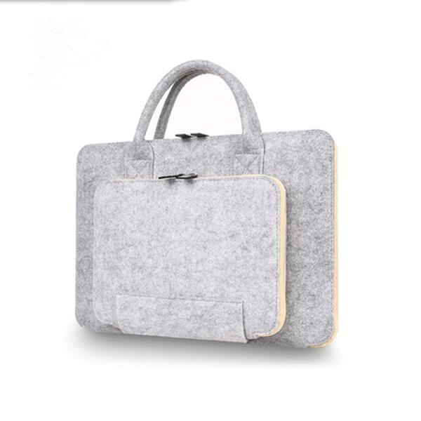 2016 new products wholesale price 13 inch sleeve felt laptop bag