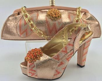 AB6202#2 2016 Fashion pink shoes and bags to match women/italian ladies shoes and bags