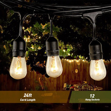 made in China christmas decoration 110v outdoor commercial string lights with customized length for patio