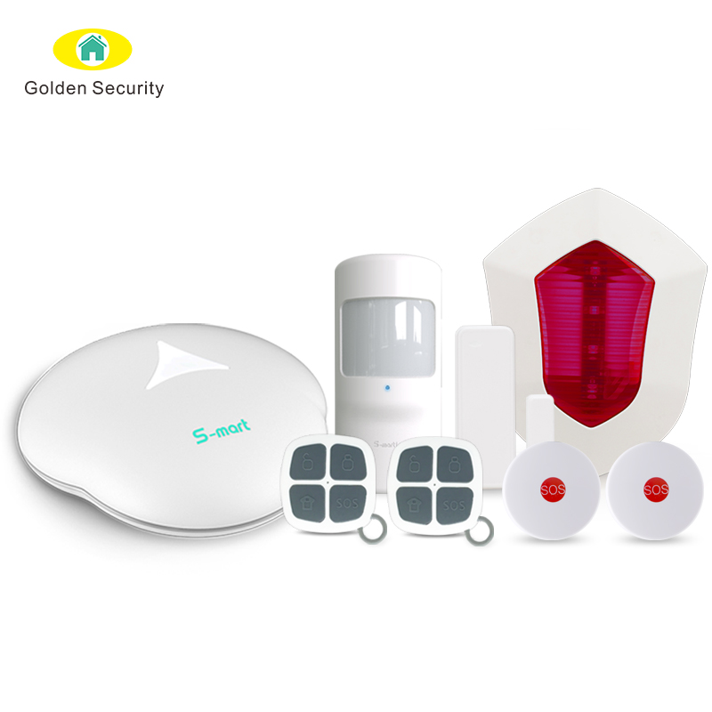 Burglar <strong>security</strong> 868mhz smart GSM home alarm system work with fire alarm