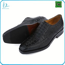 Exotic real crocodile skin men shoes