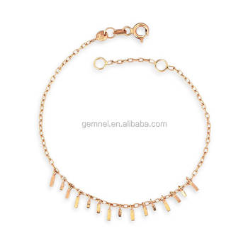Dainty 18k Plated Simple Design Jewelry Gold Bracelet Price In Dubai Product On