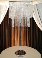 2-TIER SQUARE CRYSTAL CHANDELIER CENTERPIECE