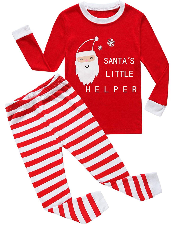 Dolphin&Fish Christmas Boys Girls Pajamas Cotton Kids PJS Toddler Sleepwear Pant Set