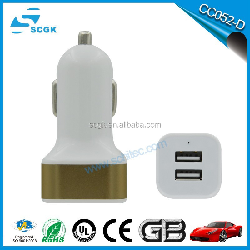 5 Volt 2.1A Dual USB Car Charger for iPod MP3 Cell Phone