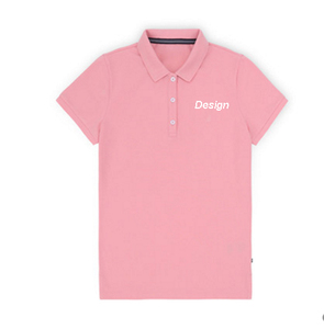 New design women 3 buttons plain workout golf polo girls t shirt custom no logo printed cheap wholesale