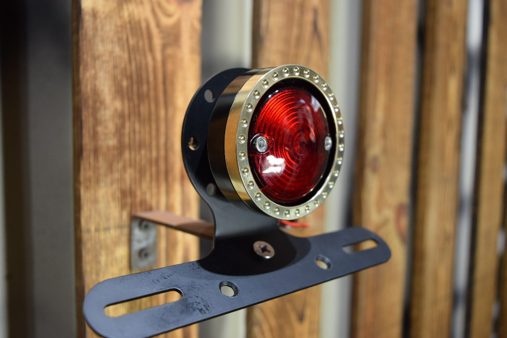 Motorcycle brass ring tail light for harley scooter tail l& for harley LED rear light & Motorcycle Brass Ring Tail Light For Harley Scooter Tail Lamp For ... azcodes.com