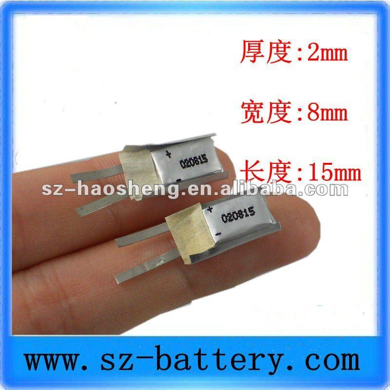 3.7v Smallest Lipo Battery 8mah 020815