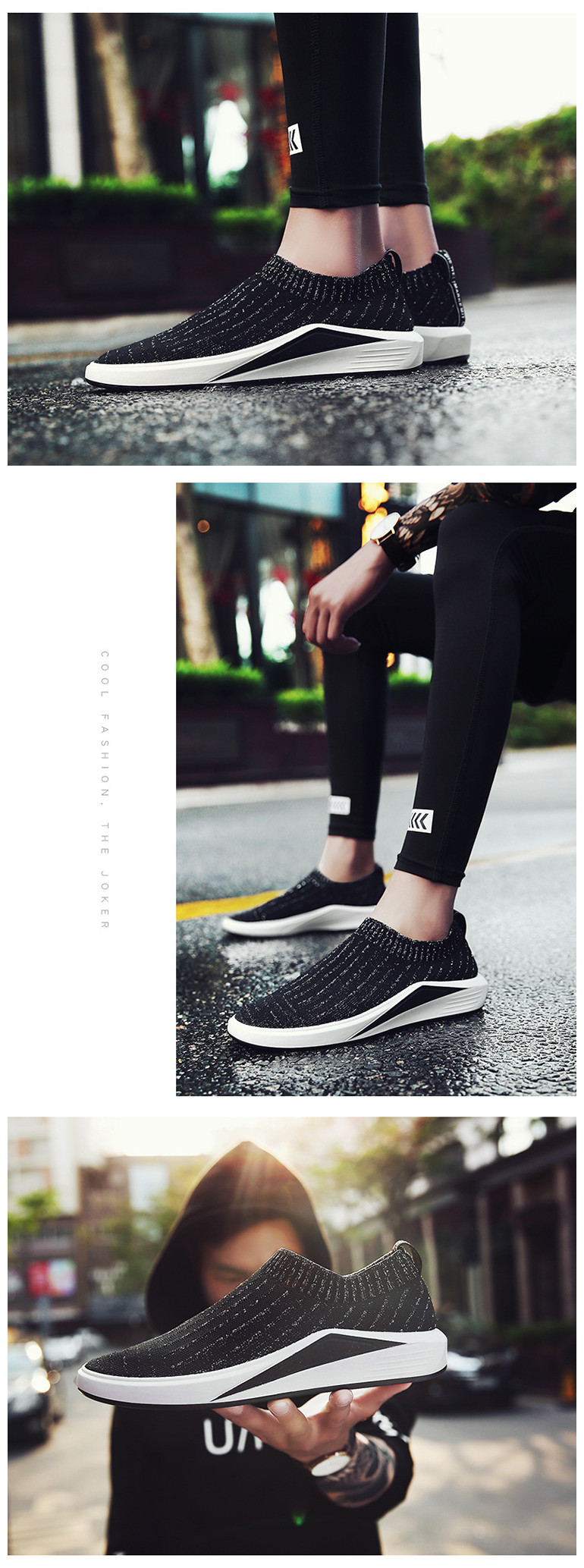 The New Breathable Sports Shoes Mens Athletic Shoes Thick Bottom Mesh Shoes