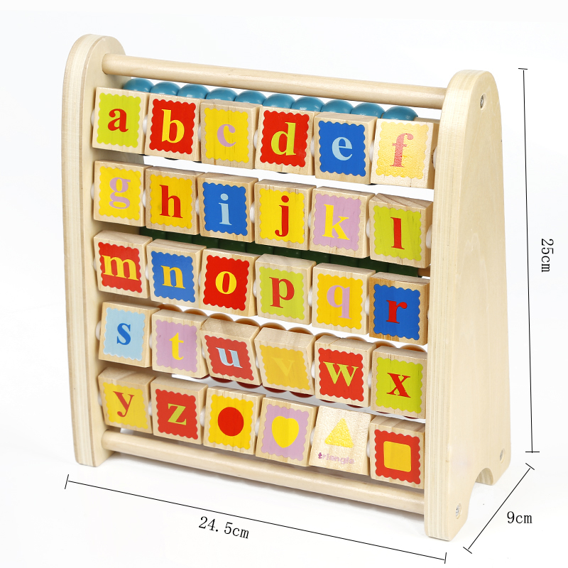 Color Children Alphabet Abacus Calculation Frame Wooden ...