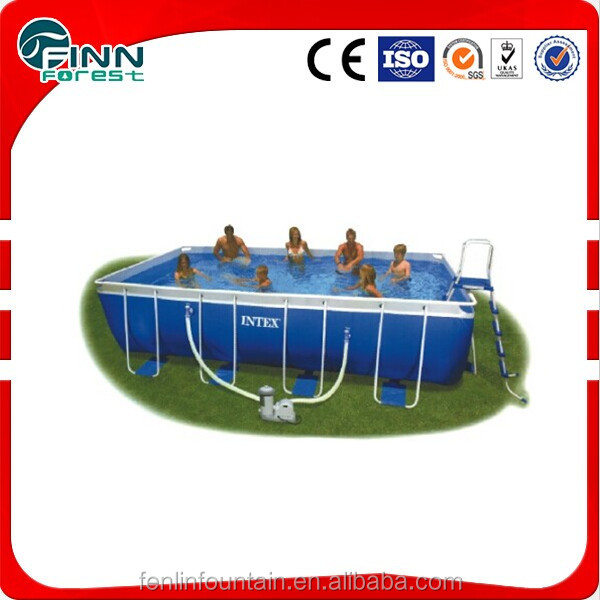 Outdoor intex metal frame playground swimming above ground pool