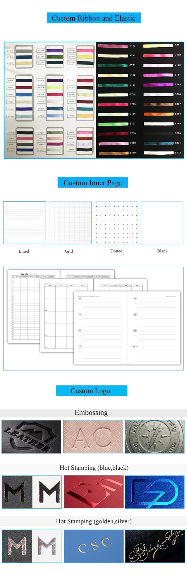Personalizzato Hardcoevr lamina d'oro matrimonio ultima planner notebook stampa