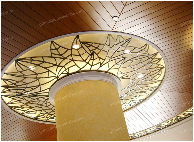 Modern indoor stainless steel ceiling, metal ceiling