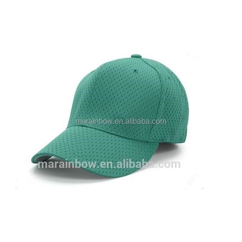 55f6cbcffcd Fitted Solid Color Blank 100% Polyester Dry Fit Athletic Mesh Baseball Caps  OEM Cheap Wholesale Baseball Caps