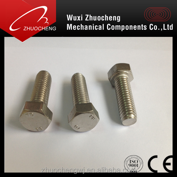 High strength ASME/ANSI B 18.2.1 Astm A325 A193 B8 1/2'' 2'' stainless steel Heavy hex bolts and nut
