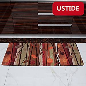 Ustide Fall Leaves Pattern Rug Non