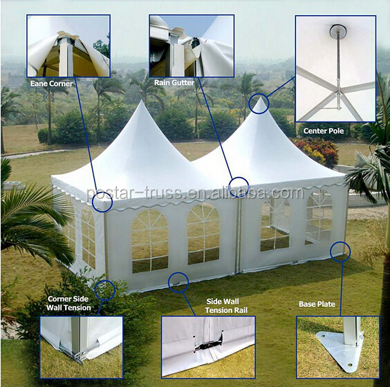Outdoor Movable PVC 20 x 20 canopy tent with clear glass windows
