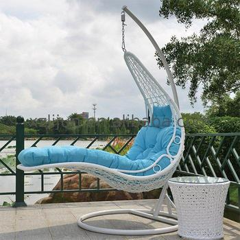 Cocoon Rattan Garden Suspended Hanging Wicker Swing Lounge Chair