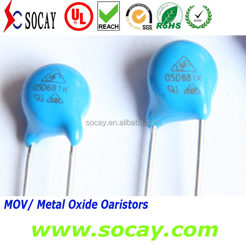Electronic Components Varistor 3 Movs Metal Oxide Varistor 10d561k Surge Arrester Varistor 3 Movs