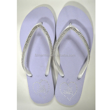 bfb09542c Branded White Wedding Flip Flop Just Married Flip Flops - Buy ...