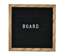 wood letter board felt backing with slots to insert letters metal, plastic, or wood frame