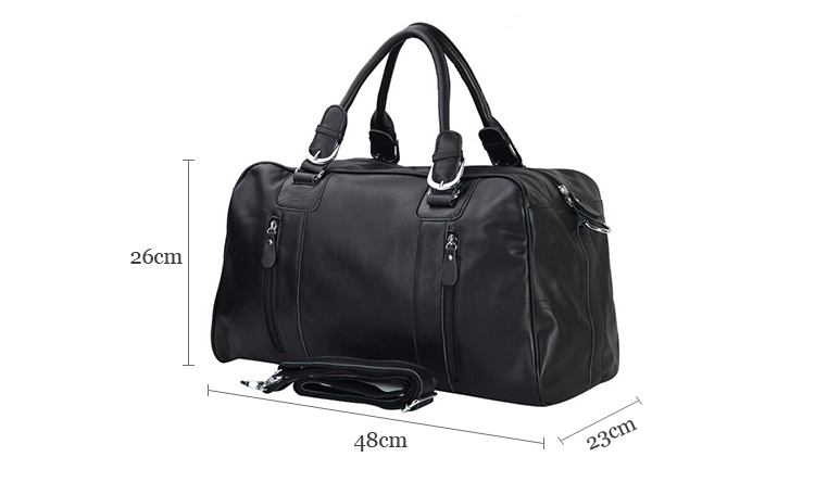 China factory supply shoulder travel weekender bags genuine leather overnight bag for men