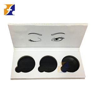 2018 New design white empty eyeshadow palette for 26mm 36mm 44mm 57mm pans