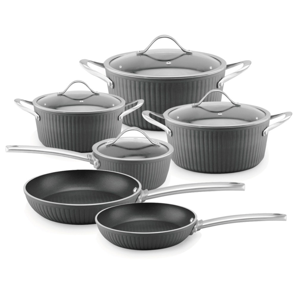 High level 10 pcs Masterclass Premium hard anodized kitchen ware cookware set