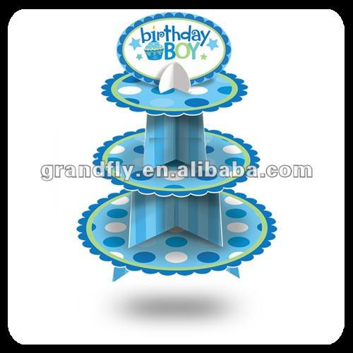 3 Tier Disposable Cupcake Stand for Birthday Party