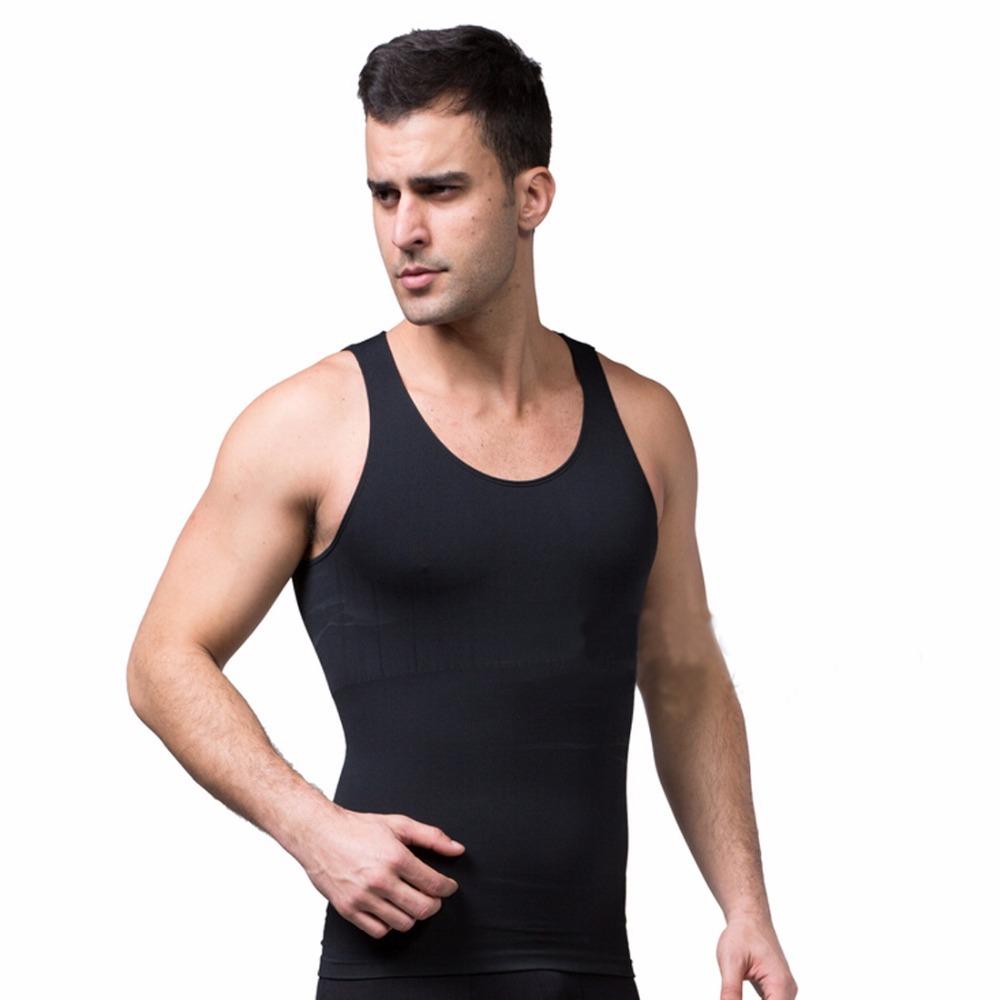 fb70051492a35 Get Quotations · Men s Body Shaper 2015 Andux Gynecomastia Chest Shaper  V-neck Mens Corset Fitness Shirt Waist