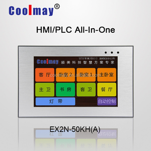 "Modbus 5"" low cost analog HMI and programming logic controller plc automation unit"