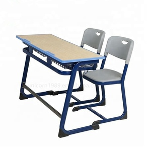 Cheap double students desks chairs school kids classroom furniture for sale