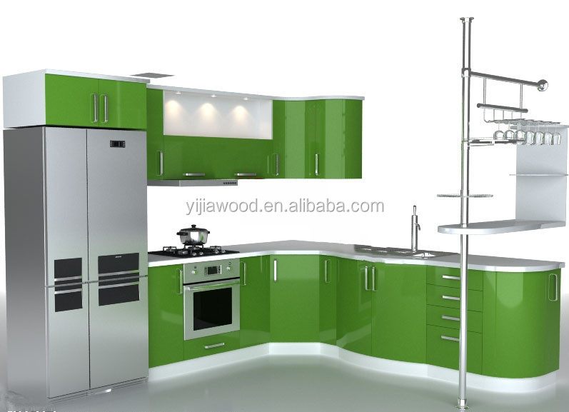 Factory Direct Sales Modern Kitchen Cabinet Buy Uv Finished Door Aluminium Edge Body Glass