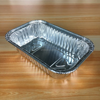 China manufacturer Oven safe use 200ml good quality disposable aluminum food takeaway bento box deli container
