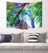 Wall Tapestry Hanging / Light-weight Polyester Fabric Wall Decor