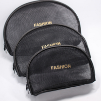 2017 New style Black travel cosmetic bags for makeup