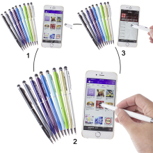 New design colorful your logo Metal capacitive stylus touch ballpoint pen