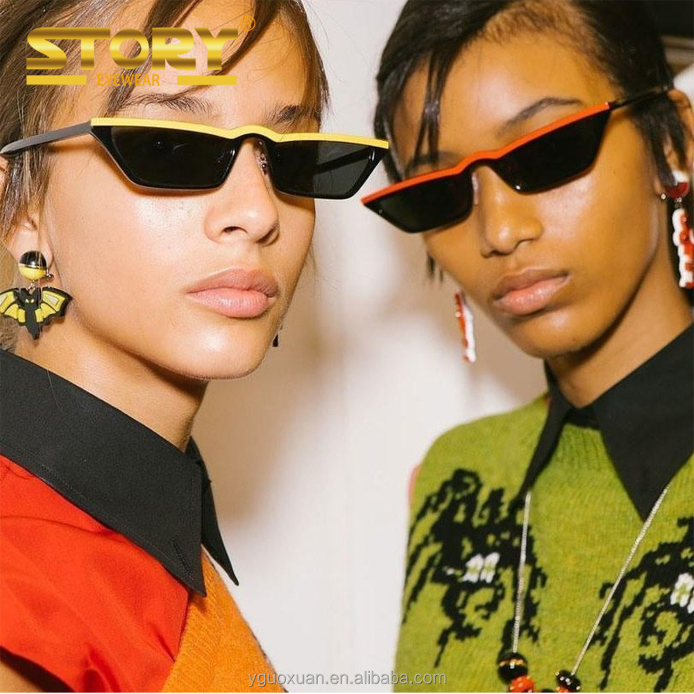 STORY STY1333M cool 2018 new small cat eye frames sunglasses brand your own FDA UV400