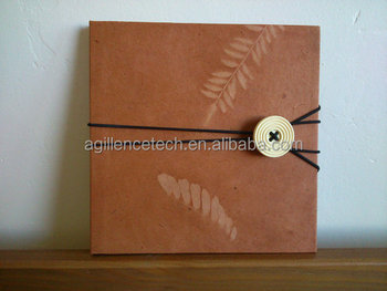 Wholesale Kraft Paper Cd Dvd Packaging With Button Envelope Design
