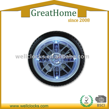 LED Tyre Clock