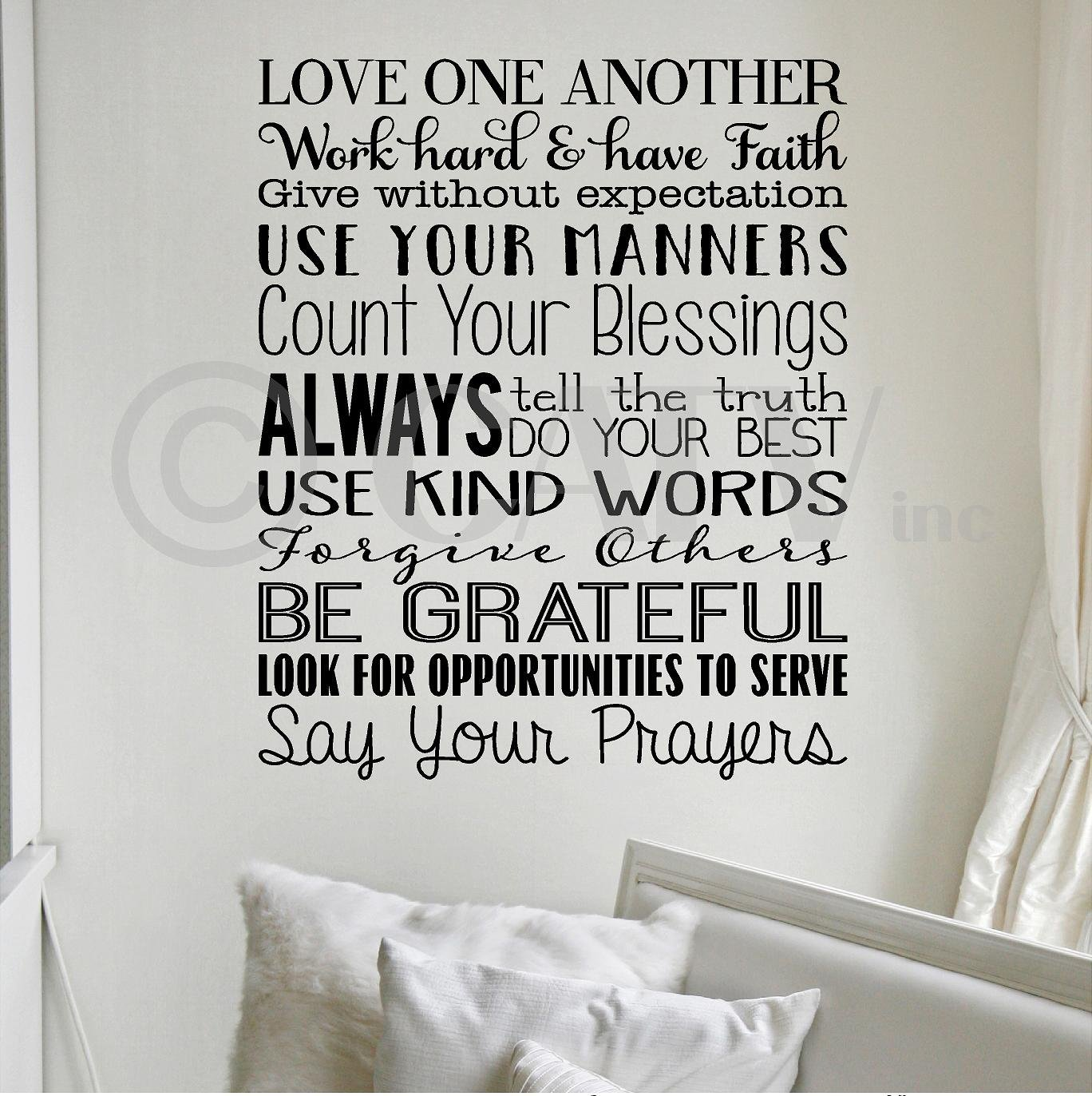Boodecal Rules of Our Playroom Vinyl Qutoes Wall Decals for Kids Family House Playroom Rules Quotes for Teens Boys Girls Bedroom Toddlers Room Decor Inspirational Sayings 23x47 inches