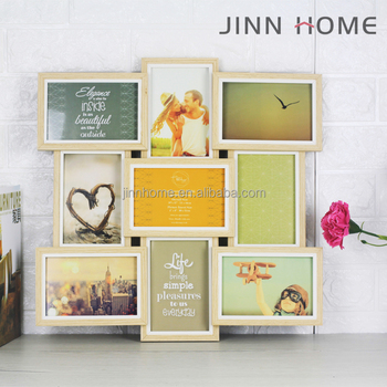 Jinnhome Funia 3d Solid Wood Collage Frame Holds Nine 4x6 Inch